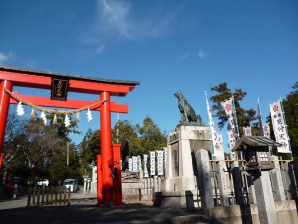 見付天神の悉平太郎像